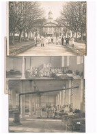 17  LOT 3 GRANDES PHOTOS ROCHEFORT HOPITAL FACADE SALLE DORTOIR INFIRMIER 1920 - Rochefort