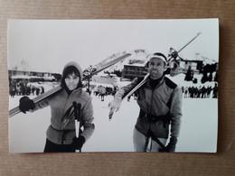 PHOTO 1968 COURCHEVEL  TELESKI SKIEUSE STATION DE SKI - Courchevel