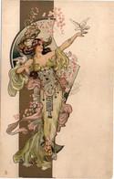 DANIELL Eva - Femme Art Nouveau  - Genre Mucha (6749 ASO) - 1900-1949