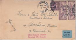 USA - 2x5 C. Flugpost U.a. Luftpostbrief Los Angeles Pforzheim 1931 - Unclassified