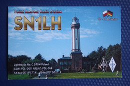 Poland, Niechorze, Lighthouse -  QSL Postcard - Faros
