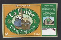 Etiquette De Bière Ambrée  -  La Lutine  -  Brasserie La Lutine à Limeuil  (24) - Beer
