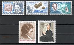 Monaco   Y&T   839 - 843   XX   ---   Commémorations  --  Parfait état. - Unused Stamps