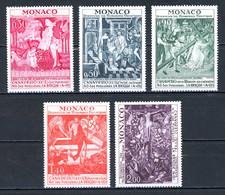 Monaco   Y&T   905 - 909   XX   ---   Protection Monuments Historiques  --  Parfait état. - Unused Stamps