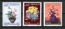 Monaco   Y&T   948 - 950   XX   ---   Concours International De Bouquets  --  Parfait état. - Unused Stamps