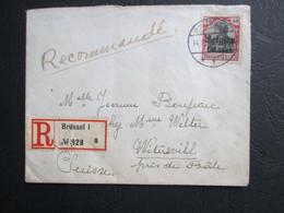 OC 20 - Op Aangetekende Brief Naar Zwitserland - [OC1/25] Gen. Gouv.