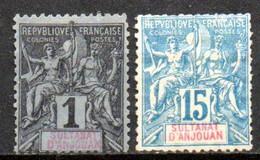 Anjouan: Yvert N° 1 Et 6(*) - Unused Stamps