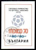 BULGARIA 1970 Football World Cup Block Used  Michel Block 26 - Gebraucht
