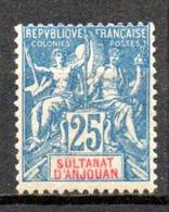 Anjouan: Yvert N° 16* - Unused Stamps