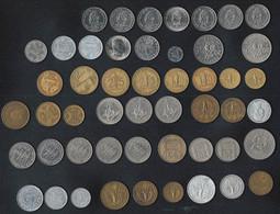 LOT DE 50 MONNAIES ANCIENNES COLONIES + POLYNESIE Et GUADELOUPE (toutes Différentes : Dates Et Modèles) - Other Coins