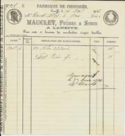 LANEFFE   -   Mauclet , Frères & Sœurs ( Fabrique De Chicorée )   1896 - Food