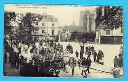 Rare CPA VITRE Inauguration Du Château-Hôtel De Ville 18mai 1913 Cortège Fleuri , Char Des Tricoteuses Par M Hervy 35 - Vitre