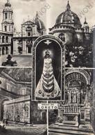 CARTOLINA  SALUTI DA LORETO,ANCONA,MARCHE,STORIA,CULTURA,IMPERO ROMANO,BELLA ITALIA,MEMORIA,RELIGIONE,VIAGGIATA 1953 - Ancona