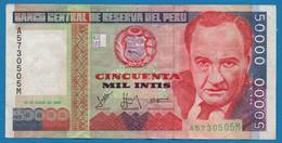 PERU 50.000 Intis 28.06.1988 #A57305005M  P# 142 Victor Raúl Haya De La Torre - Peru