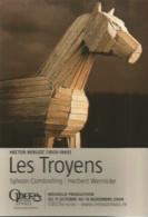 F2 / Advertising Card CARTE CPM Publicitaire PUB Carte De Collection OPERA PARIS HECTOR BERLIOZ Les TROYENS - Parijs Bij Nacht