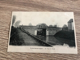Rare CP Ancienne Trith-Saint-Léger Région Valenciennes  Le Pont De Trith écluse - Valenciennes