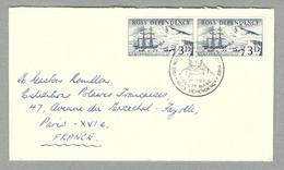 1962 LETTRE AVEC RARE OBLITÉRATION ILLUSTRÉE DU 18.01.1962 ADRESSÉE À GASTON ROUILLON DES EPF - Covers & Documents
