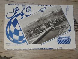 GRENOBLE : Vue Generale Et Le Moucherotte, Publicité LUSTUCRU ................ 201101c-3313 - Grenoble
