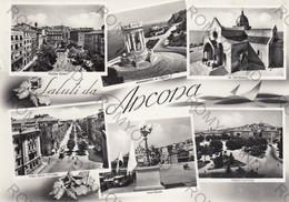 CARTOLINA  SALUTI DA ANCONA,MARCHE,STORIA,CULTURA,IMPERO ROMANO,BELLA ITALIA,MEMORIA,RELIGIONE,VIAGGIATA 1955 - Ancona