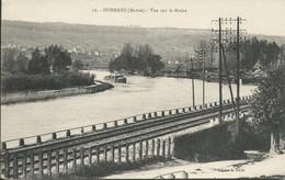 Cpa DORMANS : Vue Sur La Marne  ( Péniche ) - Dormans