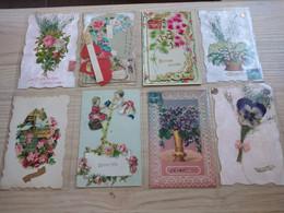 (28/03/21) LOT DE 160 CPA FANTAISIES UNIQUEMENT AVEC AJOUTIS - DECOUPIS - BELLE COLLECTION - 100 - 499 Postcards