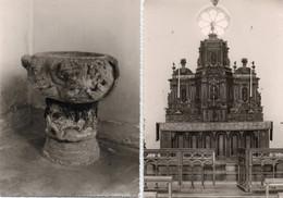 A Identifier 2 CP Chapelle Saint Germain ?? Autel En Bois & Bénitier (photo Richard à Saint Cast) - Zu Identifizieren