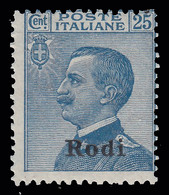Italia - Isole Egeo: Rodi - 25 C. Azzurro - 1912 - Aegean (Rodi)