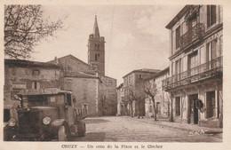 34 Cruzy, Un Coin De La Place Et Le Clocher - Altri Comuni