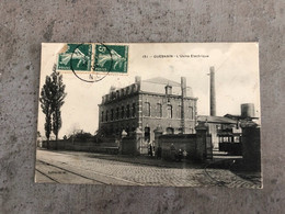 CP Carte Postale Ancienne Guesnain Nord : L'usine électrique Tram Tramway éditions D. W. - Other Municipalities
