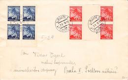 BÖHMEN & MÄHREN - BRIEF 2 II 1940 LAUN > PRAHA / QE36 - Cartas