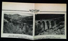 ► PAILLAT - Chemin De Fer - Construction Du Viaduc -  Coupure De Presse Originale Début XXe (Encart Photo) - Public Works