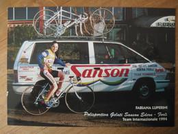 Cyclisme - Carte Publicitaire SANSON EDERA FORLI 1994 : Fabiana LUPPERINI - Cycling