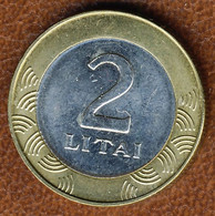 Lithuania 2 Litai 2010, KM#112, XF Bi-Metallic - Lithuania