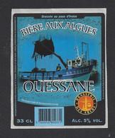 Etiquette De Bière Aux Algues  -   Ouessane  -  Brasserie   Adam   à Ploudalmezeau  (29) - Beer