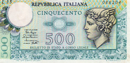 ITALIA 500 LIRE 1979 P-94a2  Xf+ - 500 Lire