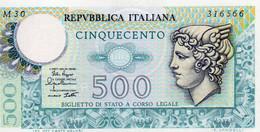 ITALIA 500 LIRE 1979 P-94a2  UNC - 500 Lire