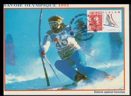 France Maxicard 1992 Albertville Olympic Games  - From 1991 (G128-53) - Winter 1992: Albertville