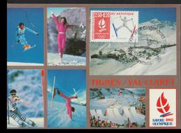 France Maxicard 1992 Albertville Olympic Games  - From 1991 (G128-53) - Inverno1992: Albertville