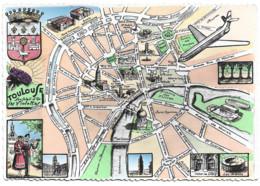 Toulouse 31 - Edition Labouche 252 Plan Touristique De Toulouse - Toulouse