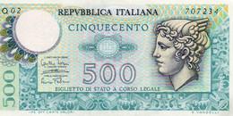ITALIA 500 LIRE 1974 P-94a1  AUNC - 500 Liras