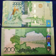 Kazakhstan - 2000 Tenge 2012 ( 2020 ) UNC P. 41(3) Without Signature Lemberg-Zp - Kazachstan