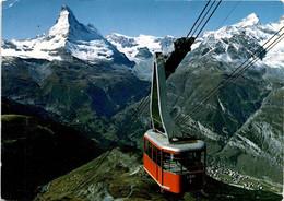 Zermatt, Luftseilbahn Rothorn (48991) * 17. 6. 1970 - VS Valais