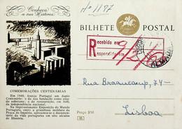 1960 Inteiro Postal Tipo «Conheça A Sua História» De 50 C. Amarelo Castanho Enviado De Almada Para Lisboa - Ganzsachen