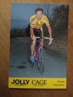 Cyclisme - Carte Publicitaire JOLLY CAGE 1994 : KONISHEV - Cycling