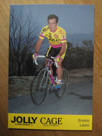 Cyclisme - Carte Publicitaire JOLLY CAGE 1994 : LEONI - Cycling