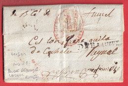 DOUBLE DEBOURSE DEB LAUZIN + FUMEL MANUSCRIT LOT ET GARONNE INDICE 19 + INDICE 21 FRANCHISE CONSEIL DES ANCIENS 1798 - 1701-1800: Precursores XVIII