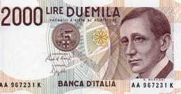 ITALIA 2000 LIRE 1990  P-115a1  UNC  SERIE AA - 2000 Lire