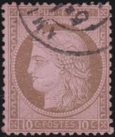 France    .   Y&T    .  54      .    O   .     Oblitéré    .     /   .   Cancelled - 1871-1875 Ceres