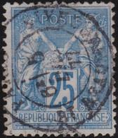 France    .   Y&T    .  79       .    O   .     Oblitéré    .     /   .   Cancelled - 1876-1898 Sage (Type II)