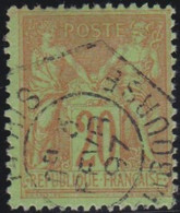 France    .   Y&T    .   96       .    O   .     Oblitéré    .     /   .   Cancelled - 1876-1898 Sage (Type II)